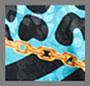 印花链条蓝色