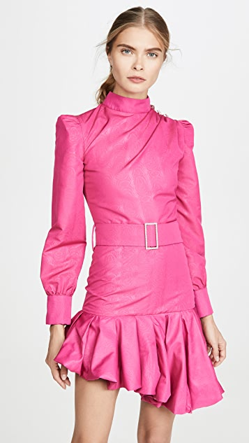 Giuseppe di Morabito Belted Asymmetrical Mini Dress