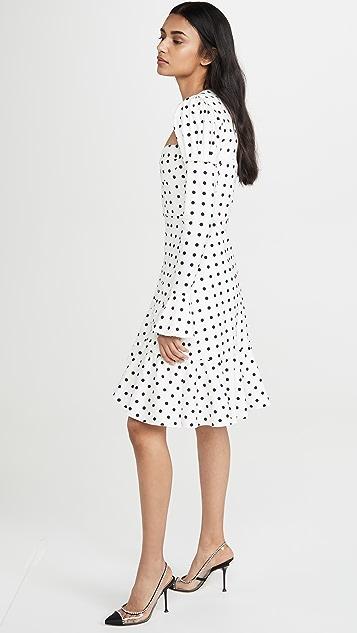 Giuseppe di Morabito 圆点花纹泡泡袖不对称迷你连衣裙