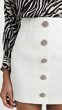 Button Miniskirt