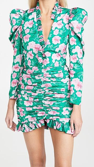 Giuseppe di Morabito V Neck Puff Sleeve Mini Dress