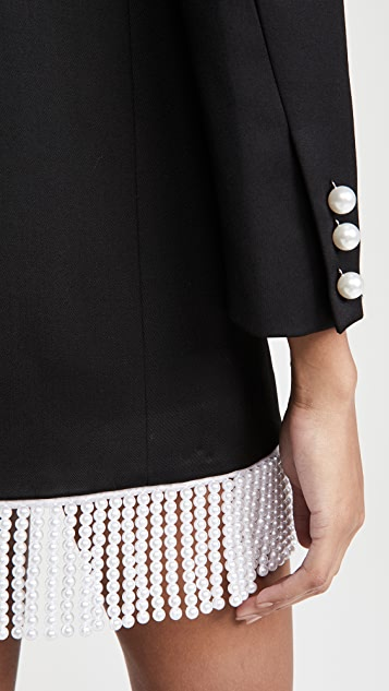 Giuseppe di Morabito Blazer Dress with Pearl Fringe