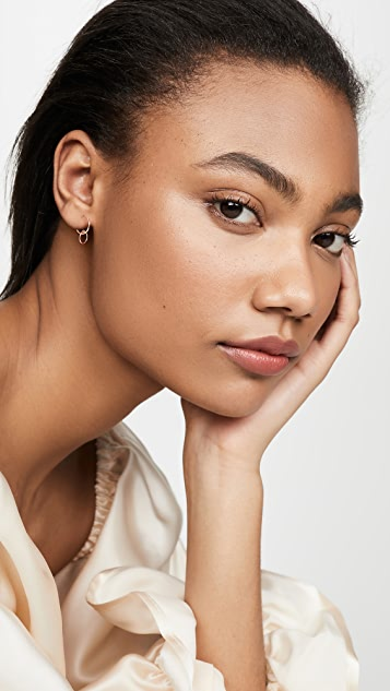 Ginette NY Tiny Circle Drop Earrings