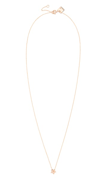 Ginette NY Mini Open Star On Chain Necklace