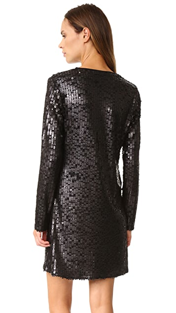 GOEN.J Sequin Long Sleeve Dress
