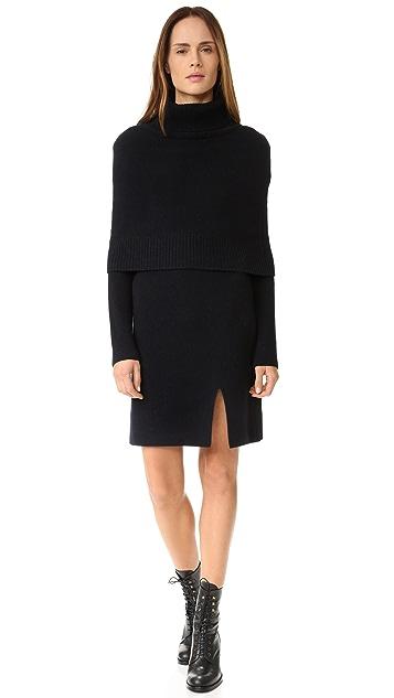 GOEN.J Sweater Dress with Shrug