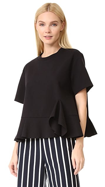 GOEN.J Ruffled Jersey Top