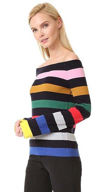 GOEN.J Striped Knit Top