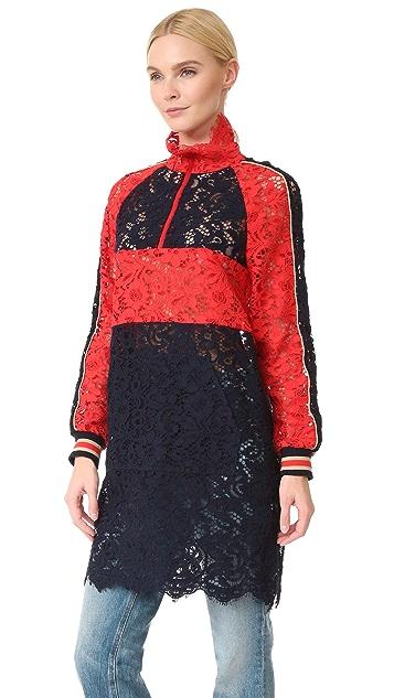 GOEN.J Long Lace Jacket Dress