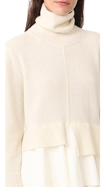 GOEN.J Ruffle Turtleneck Sweater