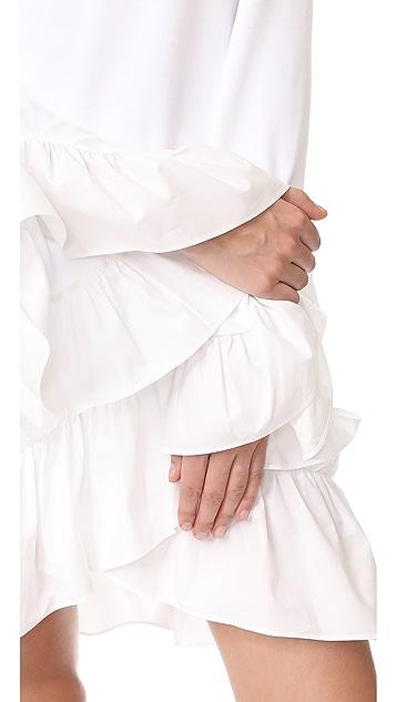 GOEN.J Платье с оборками