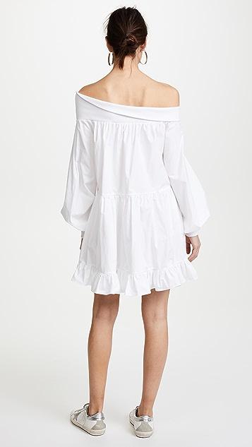 GOEN.J OTS Ruffle Hem Dress