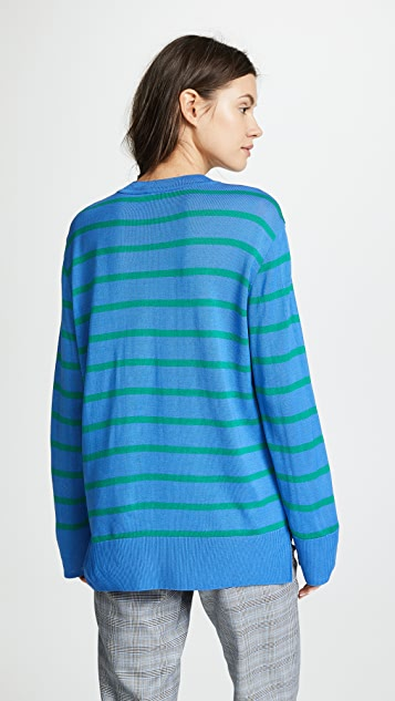GOEN.J Knit Top with Stripes