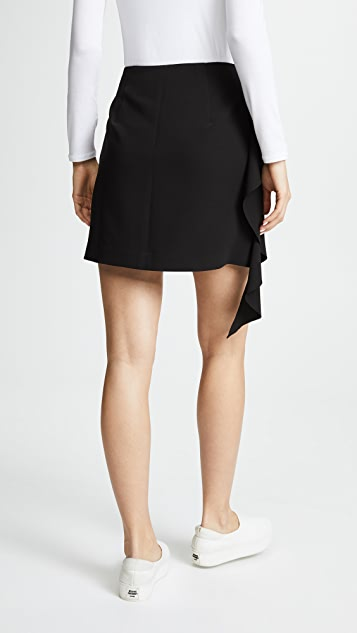 GOEN.J Asymmetrical Miniskirt with Ruffle