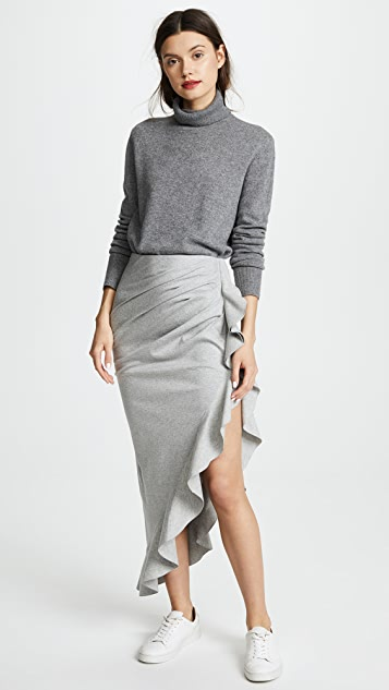 GOEN.J Asymmetrical Skirt with Ruffle