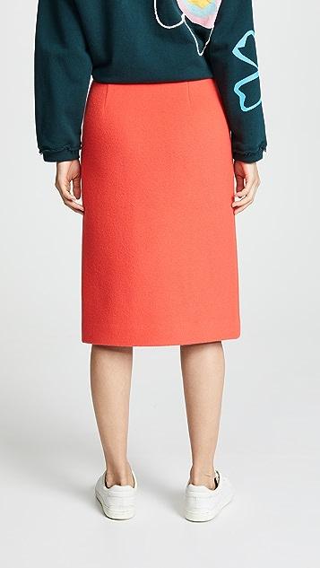 GOEN.J Button Front Skirt
