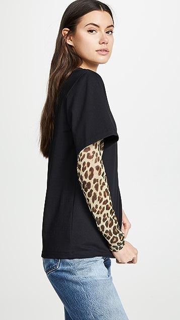 GOEN.J Leopard Combo Top