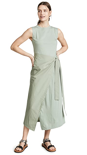 GOEN.J Overlay Wrap Dress