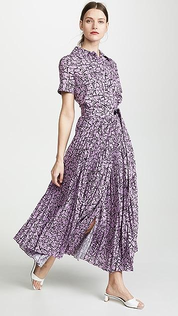 GOEN.J Leopard Print Shirt Dress