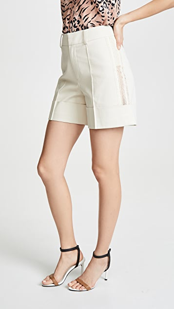 GOEN.J Lace Trimmed Shorts