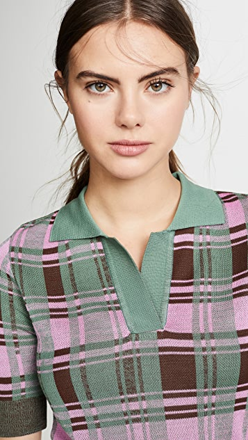 GOEN.J Plaid Collared Sweater