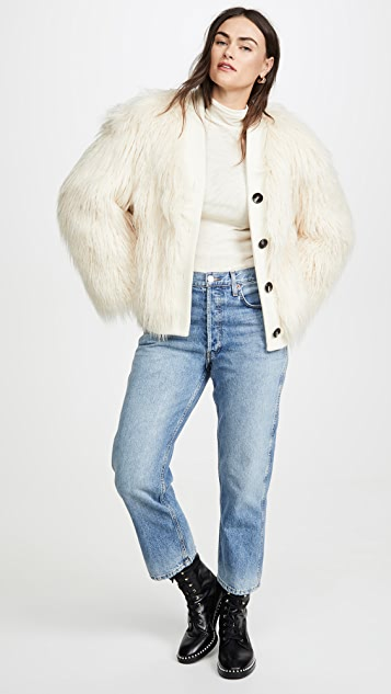 GOEN.J Faux Shearling Coat