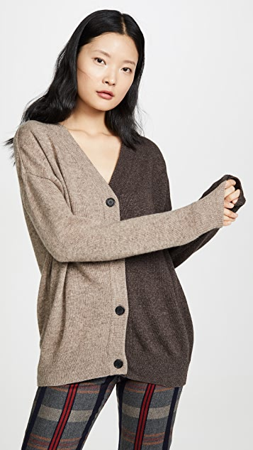 GOEN.J Two Tone Cardigan