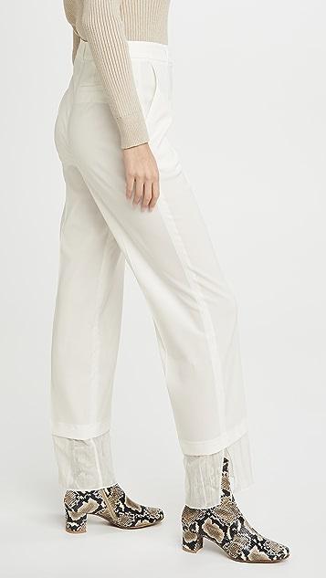 GOEN.J Многослойные прямые брюки