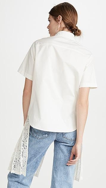 GOEN.J 分层绳制蕾丝衬衫
