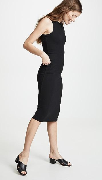 Goldie Ribbed Sleeveless Midi Dress