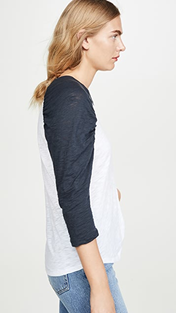 Goldie Ruched Baseball Tee