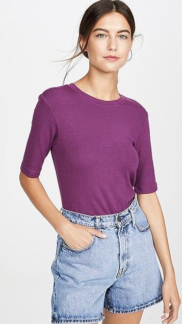Goldie Рубчатая футболка с рукавами до половины длины