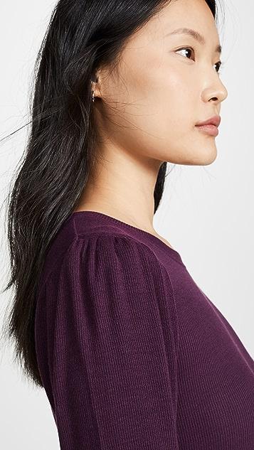 Goldie 罗纹泡泡肩部 T 恤