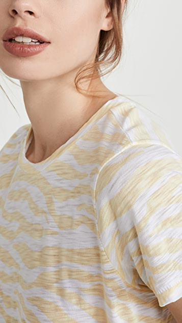 金色 斑马男友风格 T 恤