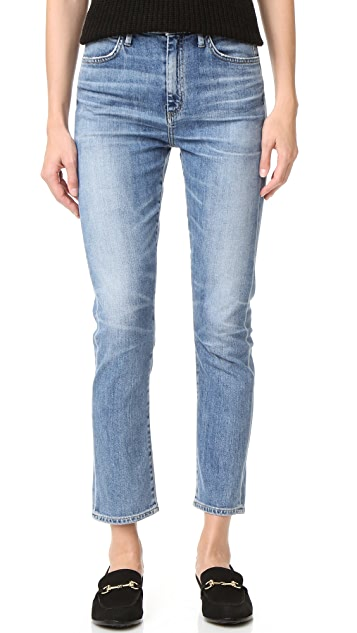 GOLDSIGN Glenn High Rise Cropped Straight Jeans