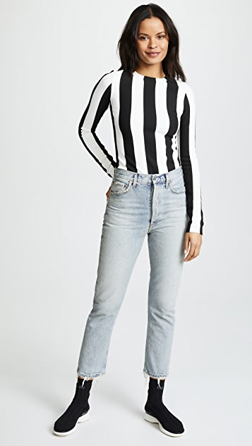 GOLDSIGN The Wide Stripe Bodysuit