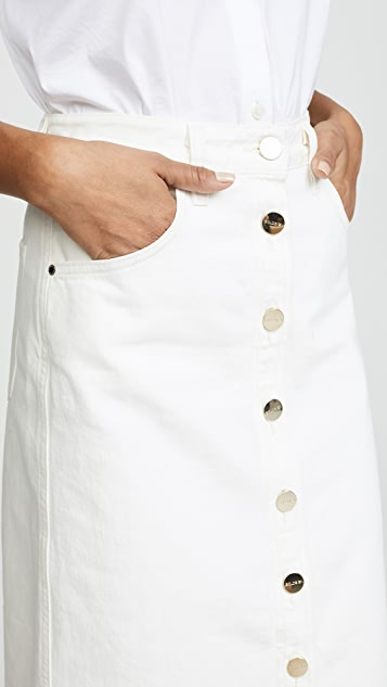 GOLDSIGN The Button Front Original Skirt