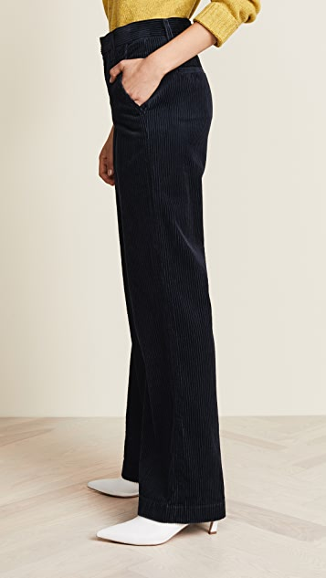 GOLDSIGN The Flat Front Corduroy Trousers
