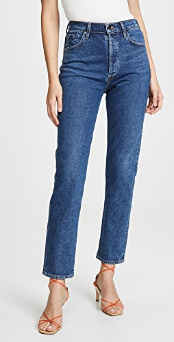 GOLDSIGN - Benefit High Rise Relaxed Straight Jeans