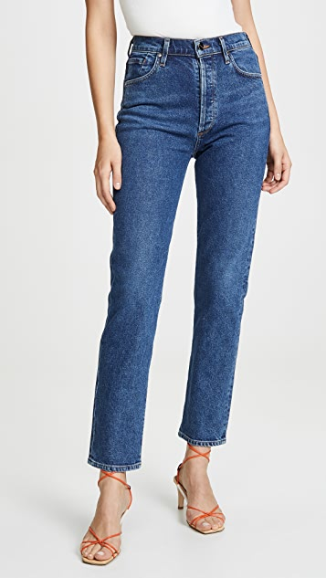 Benefit High Rise Relaxed Straight Jeans by Goldsign