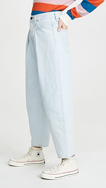 GOLDSIGN The Pleat Curve Jeans