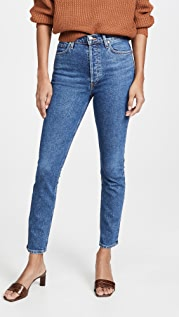 GOLDSIGN High Rise Slim Jeans