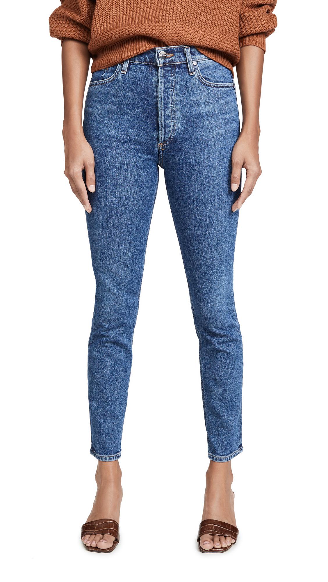 GOLDSIGN High Rise Slim Jeans