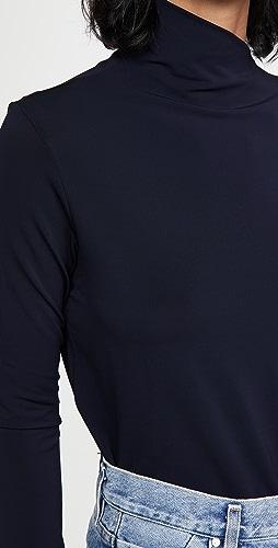 GOLDSIGN - The Asymmetric Mock Neck Top