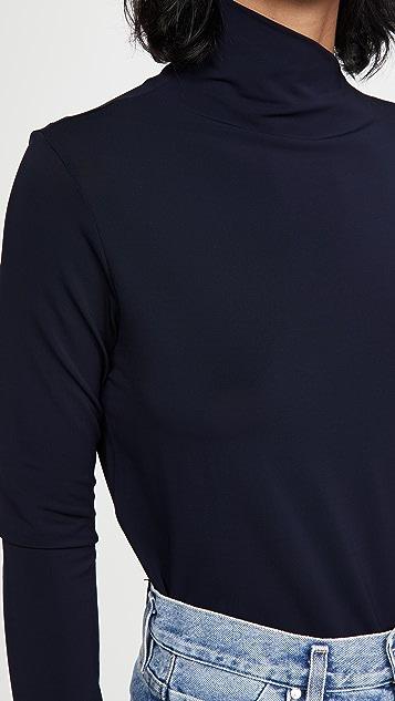 GOLDSIGN The Asymmetric Mock Neck Top