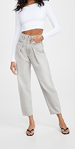GOLDSIGN - The Pleat Curve Jeans