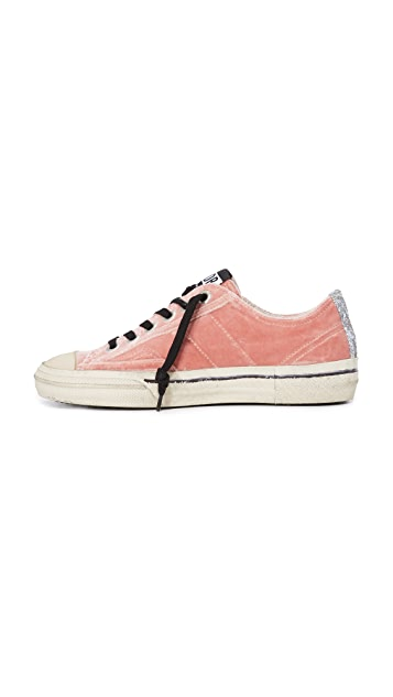 Golden Goose V-Star Velvet Sneakers
