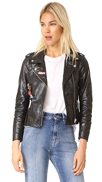 Golden Goose Mini Chiodo Leather Jacket