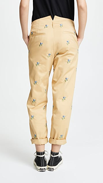 Golden Goose Chino Pants with Embroidery
