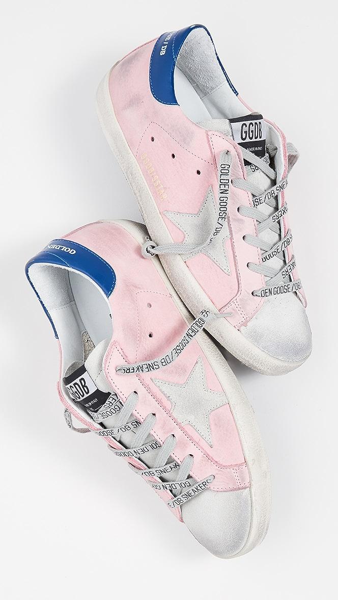 pink golden goose shoes